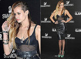 Alice Dellal in Leather Skirt at Spanish Glamour Awards