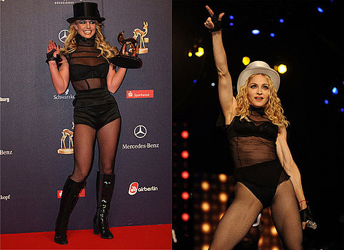 Britney Spears Copies Madonna Signature Style