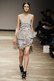 Autumn Winter Catwalk trends - Oversize Sequins or Paillettes at Christopher Kane