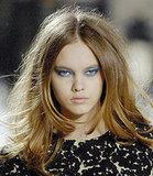 Photo of Autumn Fall Winter 2008 Beauty Catwalk Runway Trends Blue Eyeshadow make-up on Proenza Schouler Models