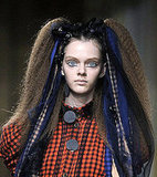 Autumn Winter 2008 Catwalk Runway Beauty Fashion Trend Crimped Hair at Luella, Julien Macdonald, Richard Nicoll, Model Hair Look
