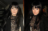Photos of Lily Allen With Hair Extensions and Sleek Straight Fringe