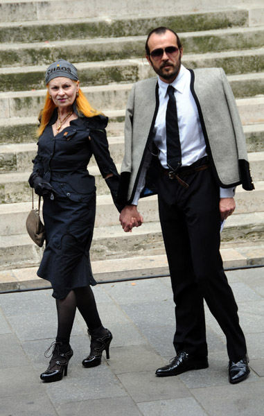 Vivienne Westwood with husband Andreas Kronthaler.