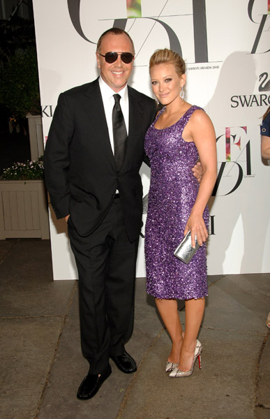 Michael Kors and Hilary Duff, in his design.