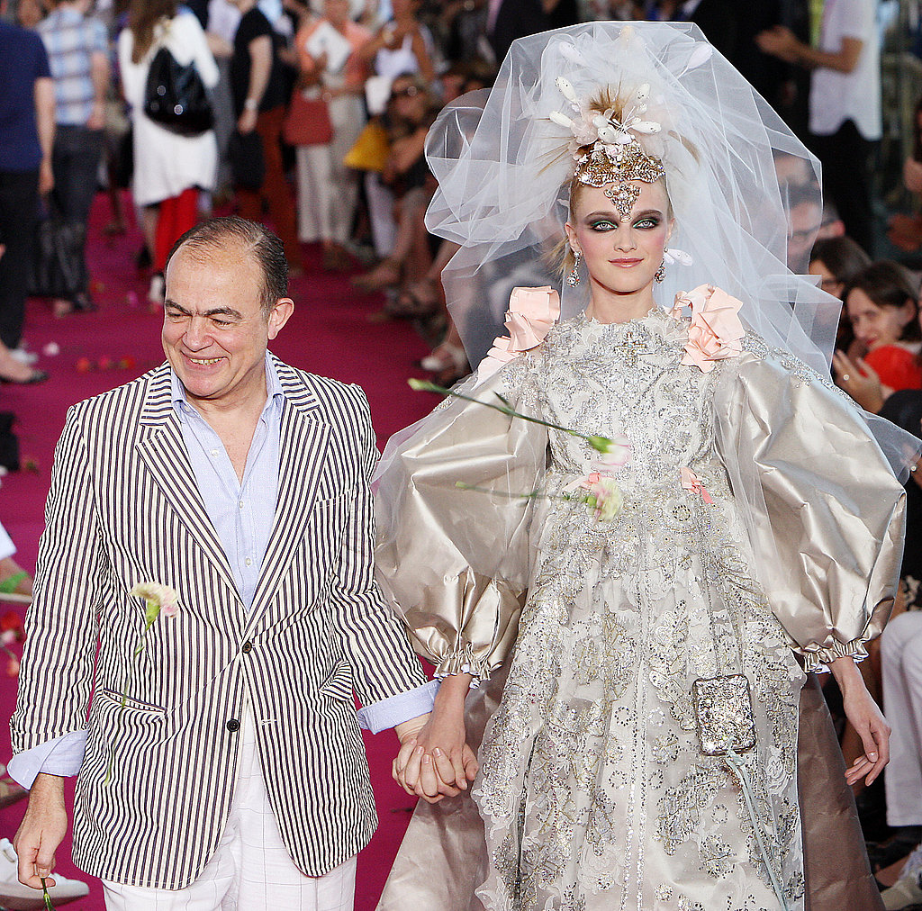 Christian Lacroix and Vlada Roslyakova