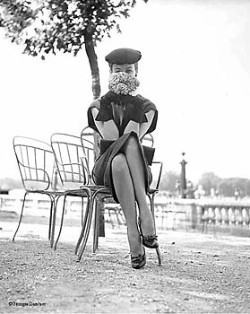 Dorian Leigh, Jardin des Tuileries,