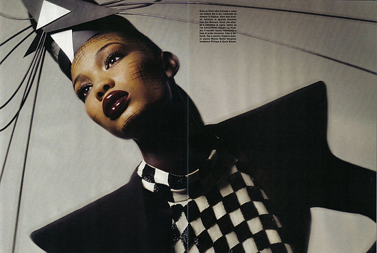 Chanel Iman Pulls On Her Edgy Face for July 2008 Vogue Italia