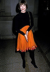 Dec. 1988: Shortly after her appointment as Vogue editor in July 1988, at the Costume Institute Gala.