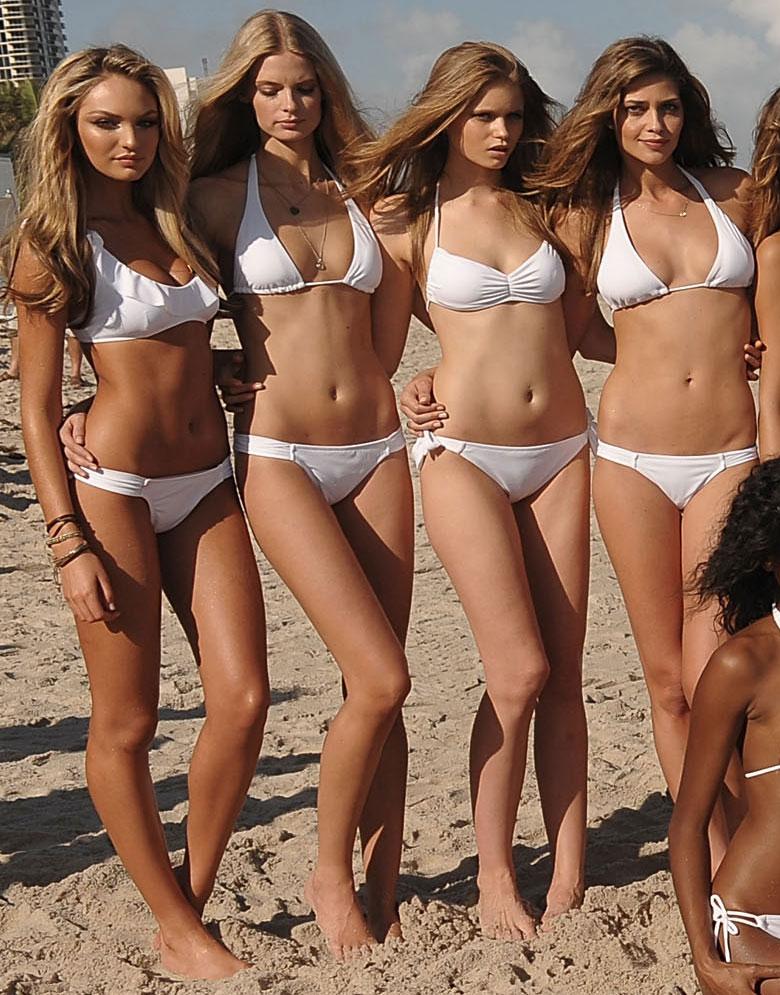 Candice Swanepoel, Julia Stegner, Abbey Lee Kershaw, Ana Beatriz Barros.