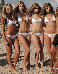 Candice Swanepoel, Julia Stegner, Abbey Lee Kershaw, Ana Beatriz Barros.