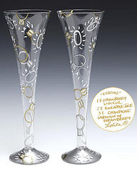 These are wedding champagne glasses