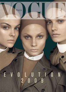 Vogue Italia January 2009: Anna Selezneva,Viktoriya Sasonkina,Anna Maria Jadogzinska by Steven Meisel