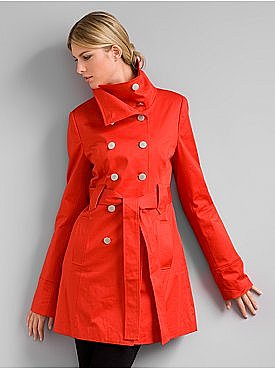 New York &amp; Company: City Style Stand-Up Collar Coat