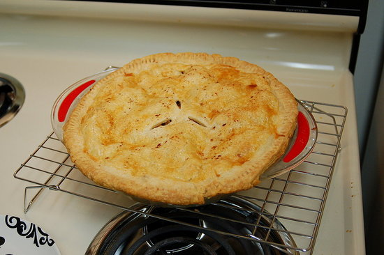 So the crust doesn't look perfect, but it was pretty good for my first pie ever!