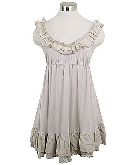 Ruffled Jersey Empire Waist Babydoll Mini Dress ($53)