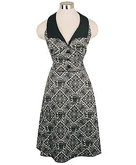 Grey Skull Bandana Halter Dress by Rock Steady ($59)
