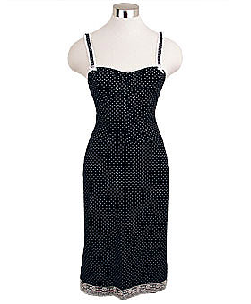 Black Polka Dot Pucker Retro Dress by Rock Steady ($54)