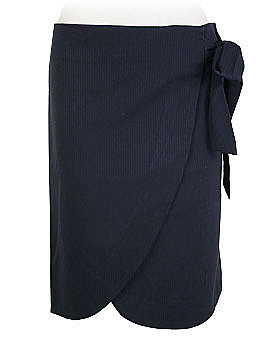 Midnight Herringbone Wrap Skirt by Tulle Clothing ($32.20)