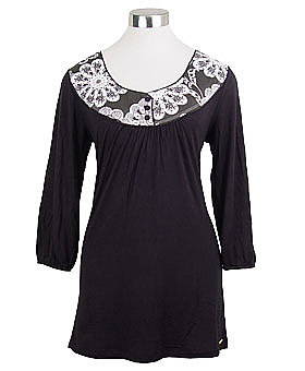Signal Black &amp; White Tunic Top by Gentle Fawn