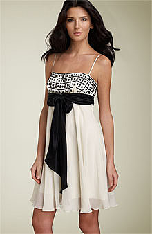 BCBGMAXAZRIA Beaded Empire Cocktail Dress -  - Nordstrom