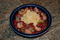 Red Beans and Rice with Chicken Andouille
