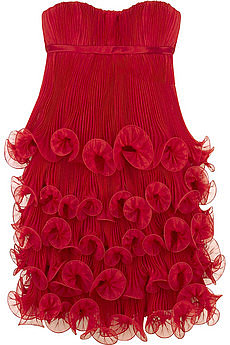 Marchesa Layered ruffle dress | NET-A-PORTER.COM