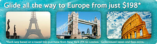Glide to Europe - British Airways