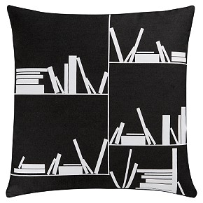 Get bookish with the new CB2 Lit 101 pillow ($19.95).