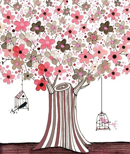 What's not to love about love birds? This At a Distance print ($18) is quite girly, but also cheerful and appropriate for Spring!