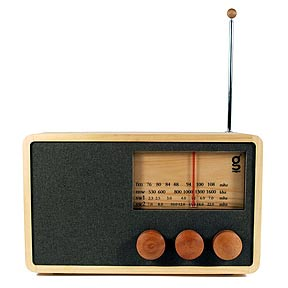 Nice and New: Areaware Magno Wooden Radio