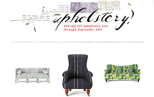 Sale Alert: 25 Percent Off Upholstery at Anthropologie