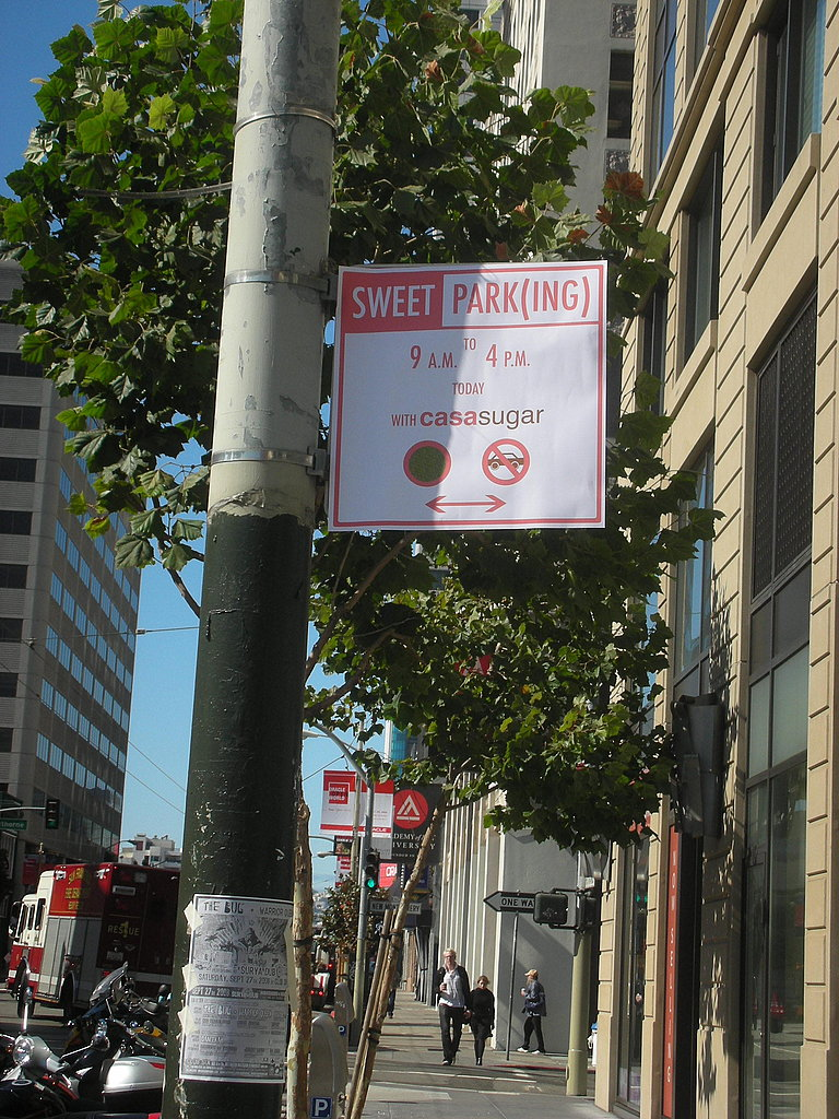 "I whipped up this ""Sweet Park(ing)"" sign in Photoshop."