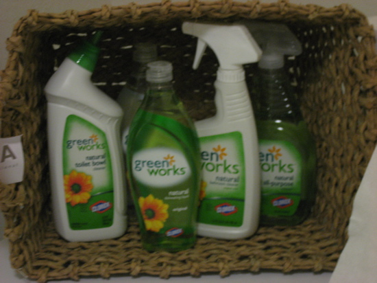The interior cleaning products were courtesy of Green Works.