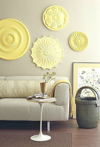 DIY: Ceiling Medallions as Wall Art