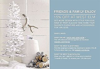 Sale Alert: West Elm Friends and Family Discount