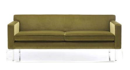 Sit your party dress on the Ted Boerner Theatre Sofa ($3,200) to mimic those gossiping girls.