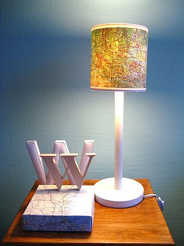 DIY: Map Lamp