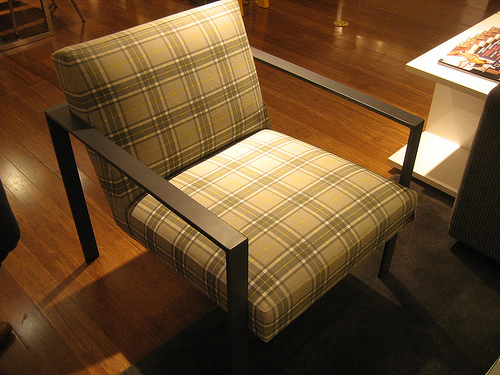 You might remember the Dempsey Chair ($499) from my Not So Trad Plaid Trend Alert. I love the juxtaposition of the pattern with the chair's spare, square arms.