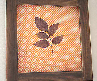 DIY: Pressed Leaf Art
