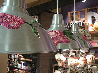 Cool Idea:  Embroidered Metal Lampshades