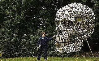 Guess What This Giant Skull Is Made Of?