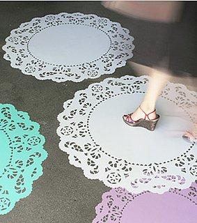 Blik's Lacy Sunday Floor Decals ($55) bring the old doily to new — low — heights.