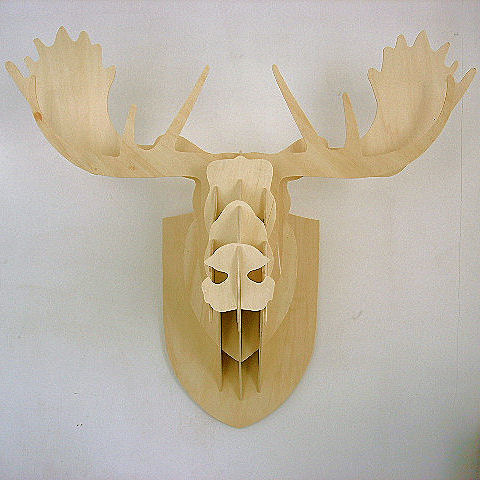 Plywood Moose Head