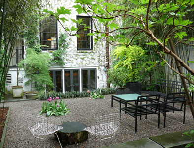 A private courtyard garden in Manhattan is to die for.