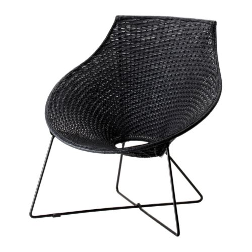The Ikea Ange Chair is made of paper, yet surprisingly strong and luxe looking. Any lady will feel like a queen when she takes a garden-side seat in this chair! Source