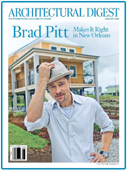 Brad ended the year on a high note: his efforts with Make It Right landed him the cover of Architectural Digest. I can't wait to see what this eco-conscious, architecture-loving celeb does in 2009!   Source