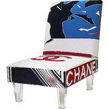 I'm not a fan of branding, but I'll make an exception for this Bespoke Silk Scarf Chair. It's just too cool. Source