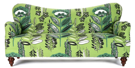 The Anthropologie Jayne Sofa is quirky, bright, and fun. Source