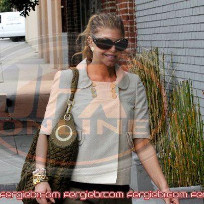 Fergie hot going to studio
