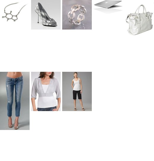 Today's Look - Geek Chic, Silver Modern Look